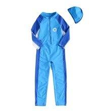 Детские костюмы для серфинга Защита от солнца UPF50+ костюм для дайвинга, пляжный костюм для мальчиков и девочек, купальный костюм от 3 до 10 лет