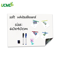 Magnetic Whiteboard Sheet Self adhesive Erasable Reminder Board 60x 40 cm Magnet Eraser Student Writing School Office Stationery
