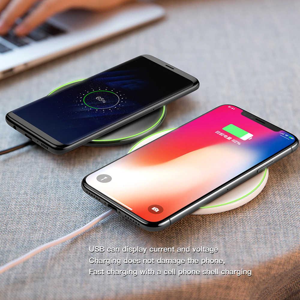 Deji Snelle Qi Draadloze Oplader Voor Iphone X/Xr/Xs Max 10W (Max) voor Samsung S6 Rand S8 S9 + Note 7 Opladen Pad Mate 20