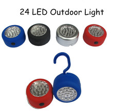 Portable LED Night Light Flashlight LED Torch Lantern Work Light 24 LED Camping Bicycle Lamp Lantern Flashlight With Hook