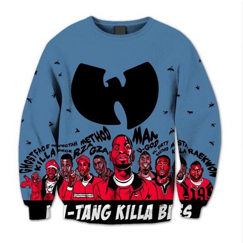 2020 Wu Tang Clan 3D Print Crewneck Sweatshirt Harajuku Style Hoodie Sweatshirt Cosplay Design Street Workout Pullover