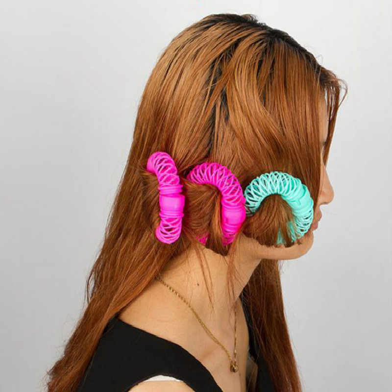 Hair Styling Roller 8pcs New Magic Hair Donuts Bendy Curler Spiral Curls Tool
