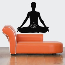 Hot Sale Home Wall Decoa Decal Yoga Meditation Sticker Removeble Mural Vinyl Art Room Decoration Wallpaper Y-366