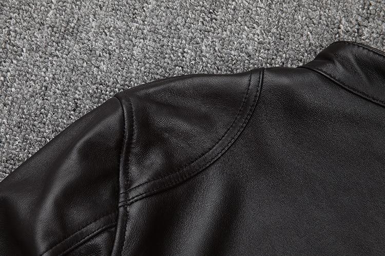 HTB1Y.Naarr1gK0jSZFDq6z9yVXam Free shipping.classic casual style,Plus size soft sheepskin Jackets,men genuine Leather jacket.motor biker leather coat,sales