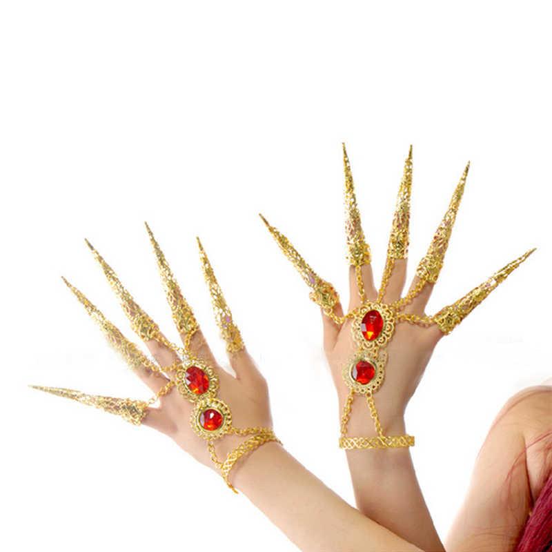 2017ร้านค้า/ขายส่งผู้หญิงเล็บตั้งยาวเพิ่มหัวเข็มขัดสร้อยข้อมือเต้นรำท้องเต้นรำท้องอุปกรณ์เสริมสำหรับผู้หญิง