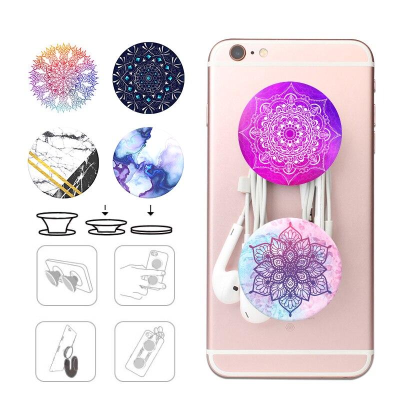 Popsoket Mandala Pocket Socket For Mobile Phone Popsocet Expanding Cell Pops Phone Holder Finger Ring попсокет Marble Pipsocket