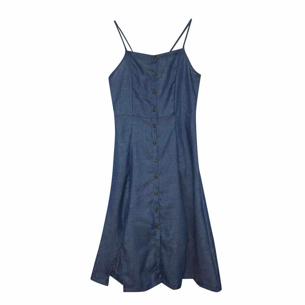 Fashsiualy летнее женское платье женские винтажные джинсовые платья с круглым вырезом на тонких бретелях платье тонкое сшитое платье миди праздничное платье
