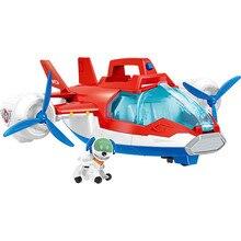 лучшая цена Paw Patrol pupply dog Deformation Music Aircraft Speedboat Toys Patrulla Canina Robot dog Ryder Action PVC Figure Model Children