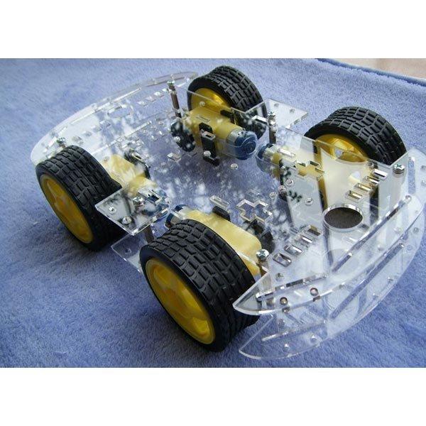 4WD Inteligente Robot Car Chasis Kits Con Fuerte Magneto sensor de Velocidad