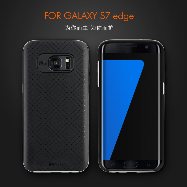 newest collection 4185c 472cb New arrival 100% original ipaky brand Top quality case for Samsung galaxy  S7 Edge 5.5'' silicone protective cover free shipping