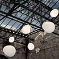 New Nordic Globo Leite Branco Lâmpada Pendurada E27 Lustre Bola de Vidro Pingente Luzes de Suspensão Da Cozinha Luminária de Iluminação Para Casa