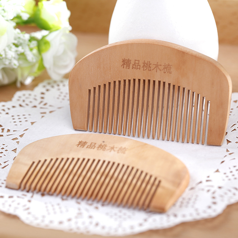 Organic, Peach Wood, Comb for Hair, Health Hair Care Styling, Hairbrush, Natural Massage, Hair Loss products