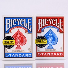 2pcs / Set USA Native Bicycle Deck Rojo y Azul Magic Regular Playing Cards Piloto Trasero Standard Decks Magic Trick 808 Mazos sellados