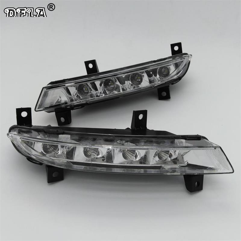 Car LED Light For Skoda Octavia A5 A6 RS 2009 2010 2011 2012 2013 Car-styling LED DRL Daytime Running Light dongzhen 1 pair daytime running light fit for volkswagen tiguan 2010 2011 2012 2013 led drl driving lamp bulb car styling