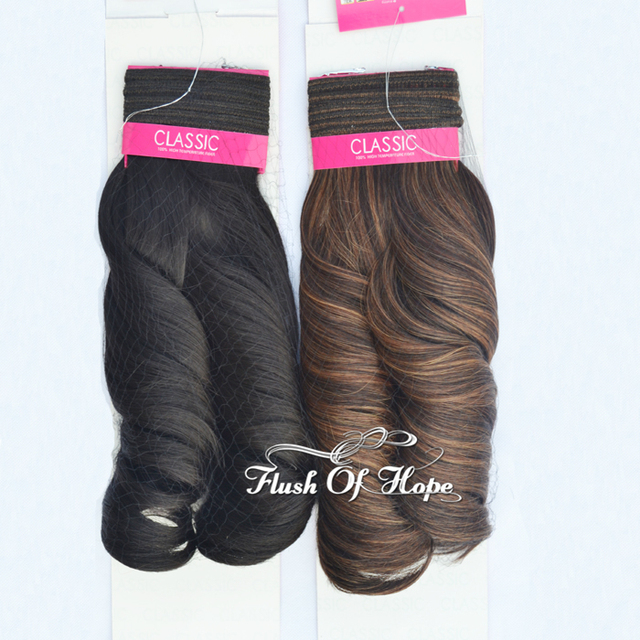2pcslot Noble Classic Paradise Curl Synthetic Hair Weave Heat