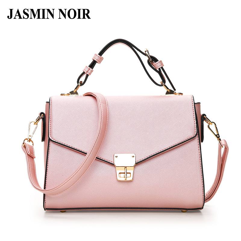 Summer New Arrival Women Pink Color Cross Body Bag Elegant Lady Dual Functions Flap Messenger Bag Female PU Totes Handbag classic women elegant flap bag messenger shoulder cross body bag 2017 contrast color cowhide leather handbag female purse