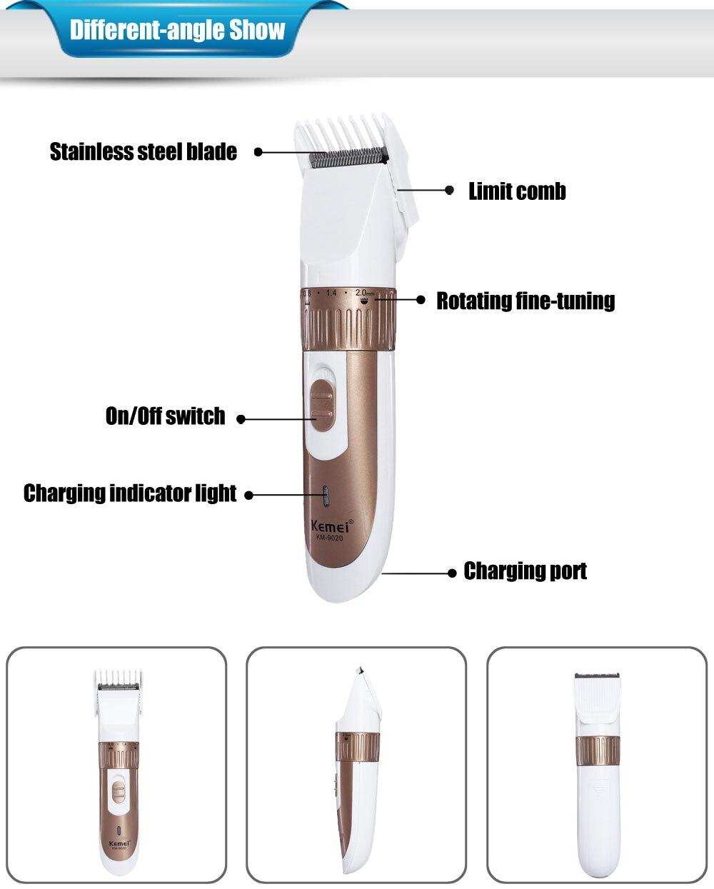 Kemei ajustable lmite peine styling kit recargable pelo trimmer 815087a41b6a