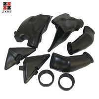 ZXMT ABS Ram Air Intake Tube Ducts Duct Fit For Honda CBR600RR 600RR CBR 2005 2006 Black