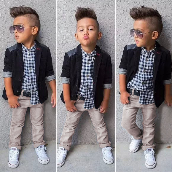 c8a130395 EMS DHL Free Shiping Wholesale Little Boys Toddler Kids Children 3PC Suit  Gentlemen Clothing Party Wear Shirt Coat Jeans-in Clothing Sets from Mother  & Kids