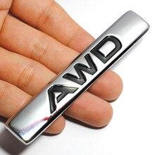 3D Auto Car Styling Chrome Metal Adesivo AWD Subaru Impreza Traseira Do Emblema Do Emblema Do Logotipo Do Decalque para a Toyota Honda 4 X 4WD 4 Off Road SUV