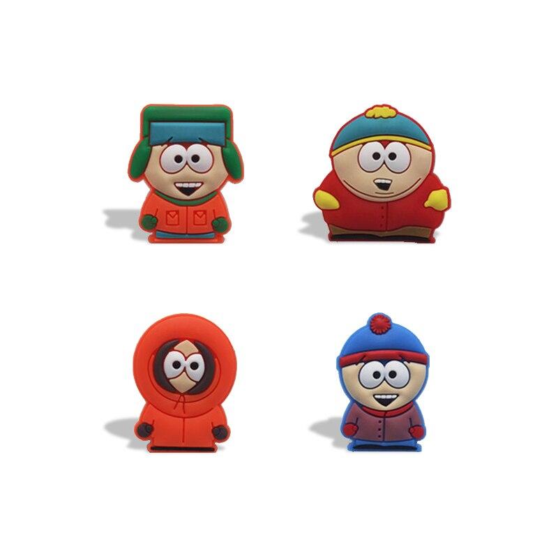 4 Stks/partij South Park Magneten Schoolbord Magneten Koelkast Stickers Kids Educatief Speelgoed Decor Kids Gift Reizen Acessories Waterdicht, Schokbestendig En Antimagnetisch