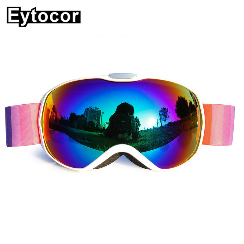 2b4b8aef534 EYTOCOR Windproof Double Layers Multicolor Lens Children Ski Goggles Kids  Winter Skiing Snow Glasses Boys Girs Snowboard Eyewear