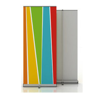 By Express High Quality Aluminium Roll Up Banner Display Retractable Stand For Trade Show Exhibition Without