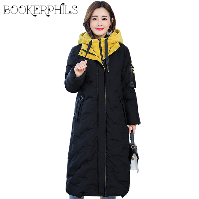 7b2a28d788672 Fashion Plus Size 5XL Women Winter Down Jacket 2018 High Quality Ladies  Coat Winter Long Parka Hooded Warm Outwear Female Parkas
