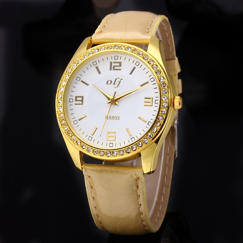 2018 New Luxury Gold Rhinestone Watches Women Fashion Leather Watch Ladies Casual Wrist Watch Female Dress Clock Montre Femme luxury brand fashion casual ladies watch women rhinestone watches dress rose gold quartz female clock montre femme relojes mujer