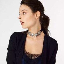 2017 Fashion Crystal Choker Necklace Rhinestone Collar for Women Maxi Gothic Bijoux Collier Jewelry Party Club Jewelry