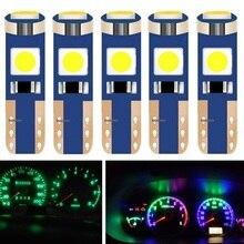 5 шт. T5 W3W W1.2W 70 73 74 79 85 супер яркий 3030 светодиодный автомобиль приборной панели потепления индикатор клин светильник лампы Авто габаритный фонарь 12V