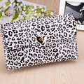 Fashion Casual Handbags Women Leopard Zipper Soft  Synthetic Leather Day Clutches Shoulder Bags Messenger Bag