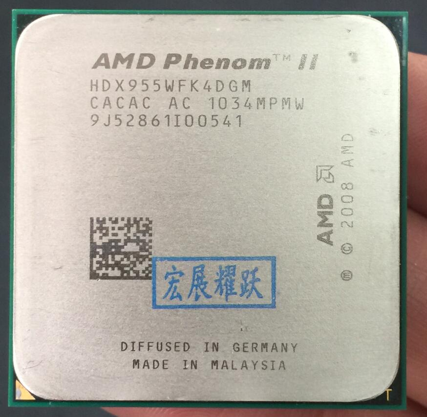 AMD Phenom II X4 955 - HDX955WFK4DGM  AMD 955 X955 95W 95W  Quad-Core AM3 938 CPU 100% Working Properly Desktop Processor