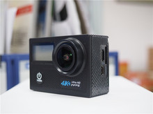 DHL Free Powpac K2 4K Ultra Camera HD 170 Degree Wide View Angle WiFi 2 Screen Action Camera with Allwinner Sport Camera