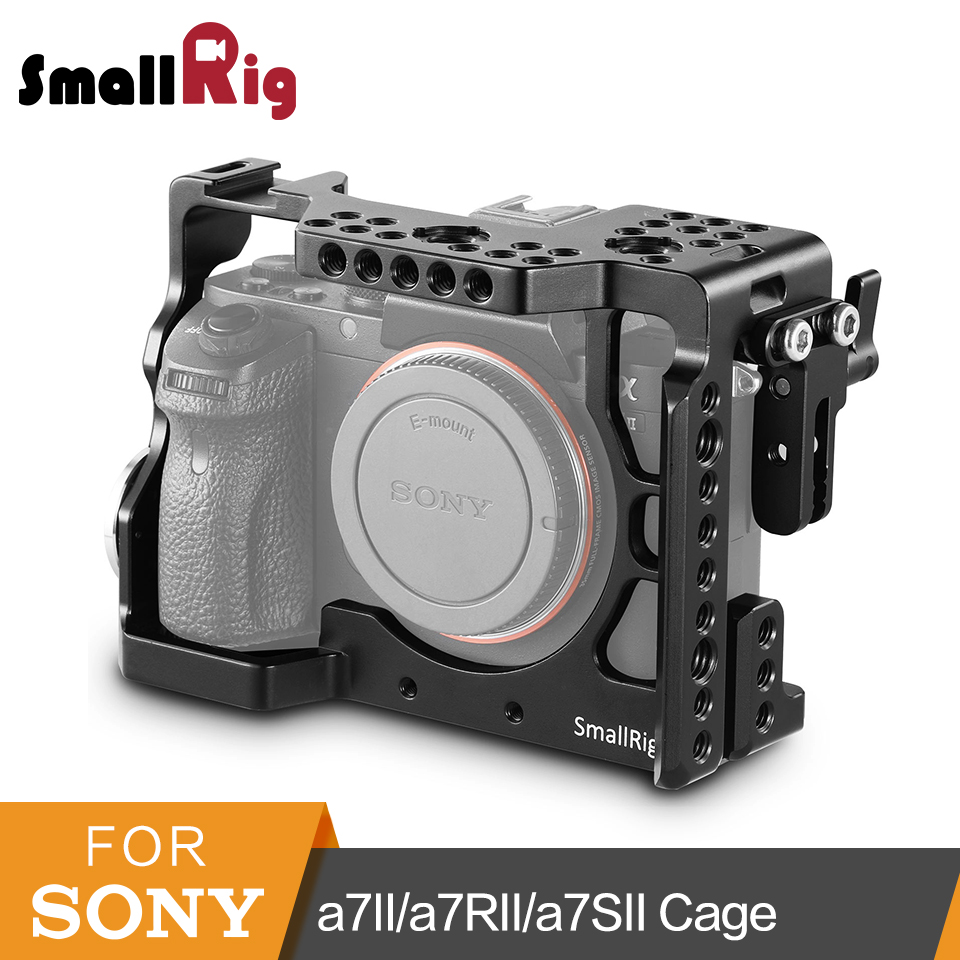 цена на SmallRig A7M2 Camera Cage For Sony A7MII/A7II/a7RII/a7SII Aluminum Alloy DSLR Camera Cage Rig To Mount Tripod Monitor -1982