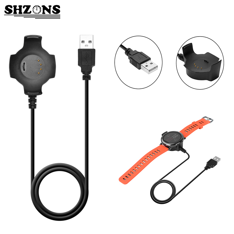 Black 1M <font><b>Magnet</b></font> <font><b>Charger</b></font> Cable 5V 300mA Data Cable For Xiaomi USB Charging Cable for Huami Amazfit Smart Watch USB Cable 1 PCS
