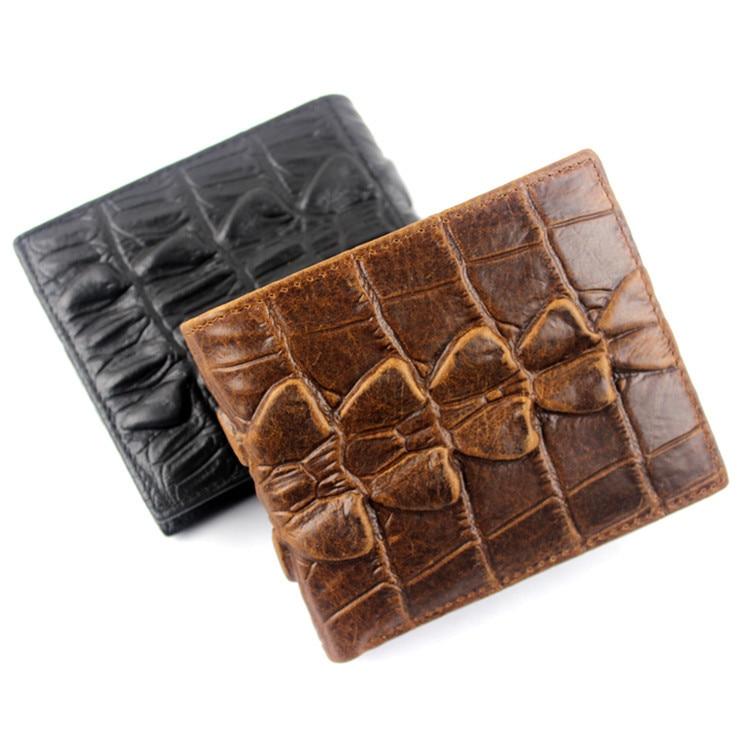 Los hombres de cuero genuino carteras patrón de cocodrilo monederos - Monederos y carteras