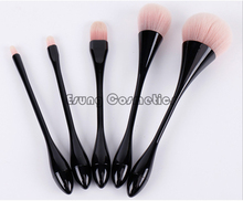 KEMEISI 5 unids Gotitas de Agua Pequeña Cintura Pinceles de Maquillaje Caja de Maquillaje Profesional Cepillo Conjunto Rojo Brochas maquillaje