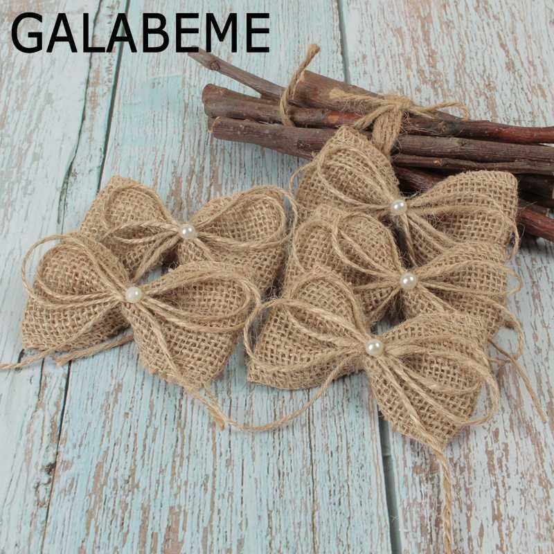 Detail Feedback Questions About Galabeme 10pcs Diy Pearl Jute Burlap