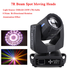 цена на 230W 7R Spot Beam 2IN1 Moving Head Light Equipment 8500K Color Temperature Moving Head Spot Dj Disco Party Lighting