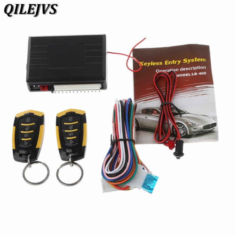 QILEJVS 433MHz 12V Car Auto Alarm Remote Central ประตูล็อค Keyless Entry System Kit
