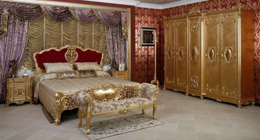 Fs 010 french classical bedroom set in bedroom sets from for Classic french beds