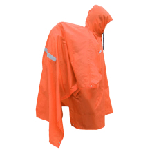 3 in 1 Multifunctional Raincoat Rain Poncho Backpack Cover Awning Orange for Camping Hiking
