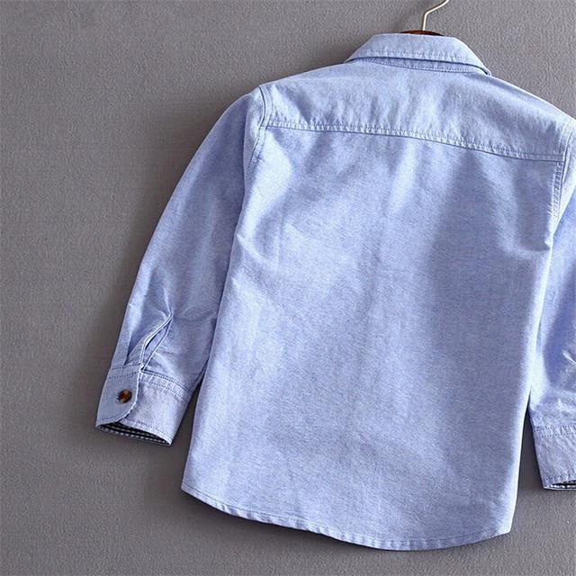 Hot Sale New Arrival 2017 Children Boys Shirts Cotton Solid Leisure Kids Shirts