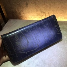 TERSE_Dropshipping service handmade patina leather wallet mans womens purse money top quality genuine leather engraving service