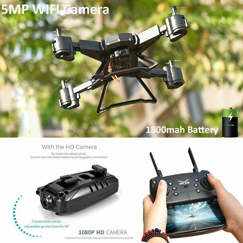 Drone de caméra HD quadrirotor 5MP 1080P Drone de FPV grand angle KY601SW RC quadrirotor avec batterie 1800mah