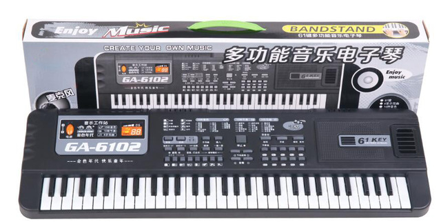 61 Keys Electronic Piano Keyboard with Microphone Toys Kids Early LearningToy Musical Instrument Educational  Organ Music Toys 4