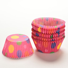 100pcs/set Cut Christmas Birthday Wedding Cake Decorating Tools Paper Muffin Cupcake Baking Cups random color