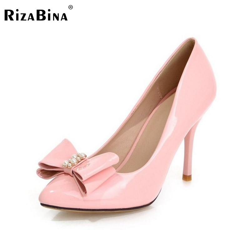women high heel shoes bowtie pointed toe sexy spring fashion heeled footwear brand pumps heels shoes size 34-39 P16393 new 2017 spring summer women shoes pointed toe high quality brand fashion womens flats ladies plus size 41 sweet flock t179