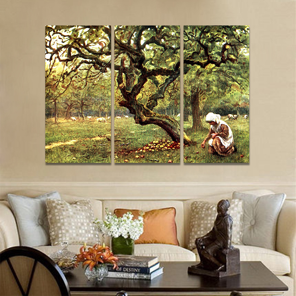 Unframed Canvas Oil Painting The Woman Who Picked Up The Apple Picture Prints Wall Picture For Living Room Wall Art Decoration